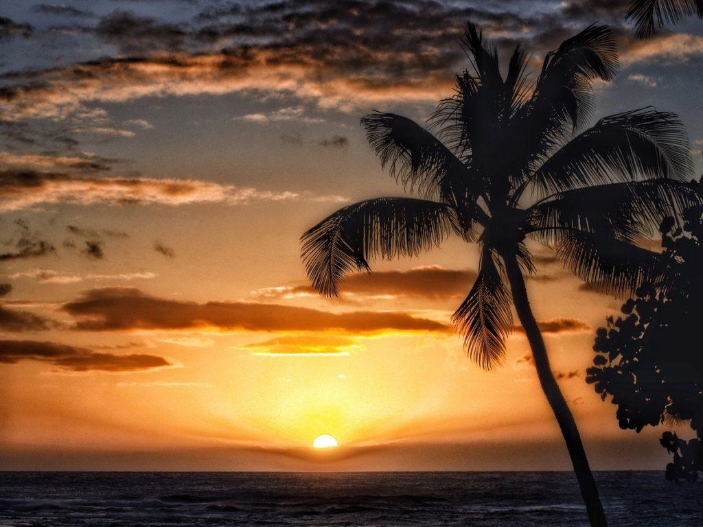 atardecer hawaiano